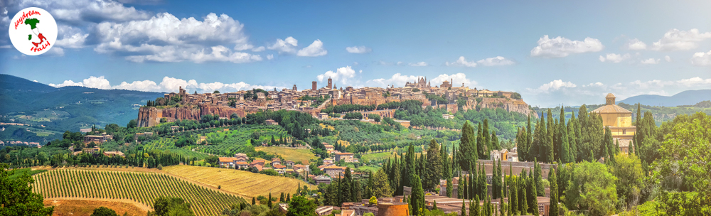 Historic town of Orvieto in Umbria