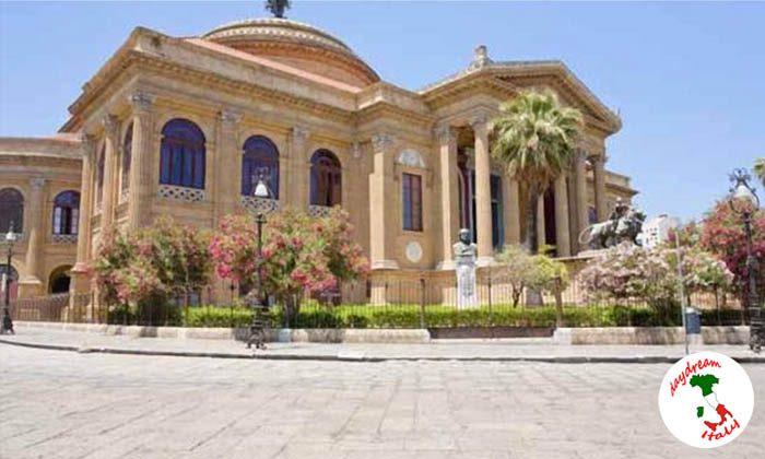 Teatro Massimo opera house in Palermo, Sicily