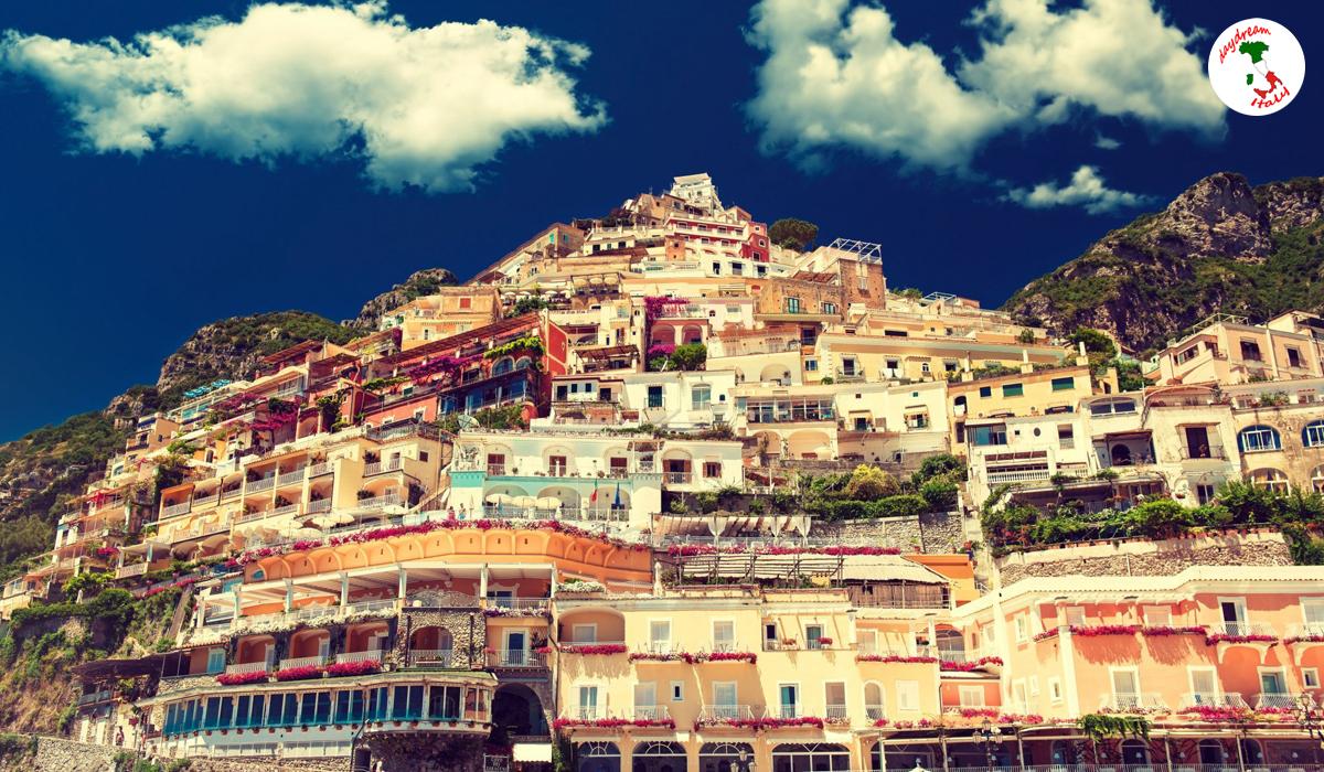 Positano in Campania, Italy