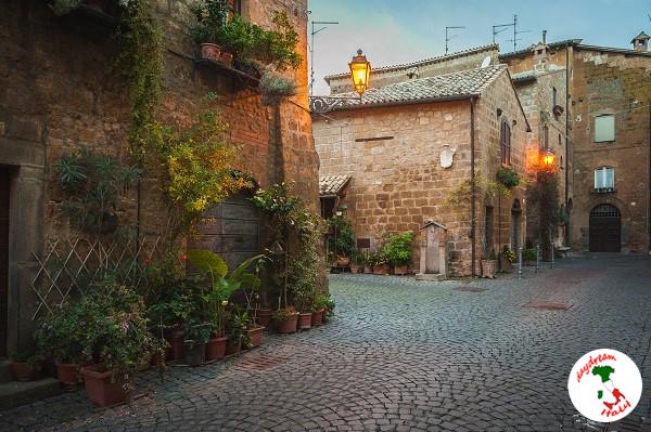 Streets of Orvieto in Umbria