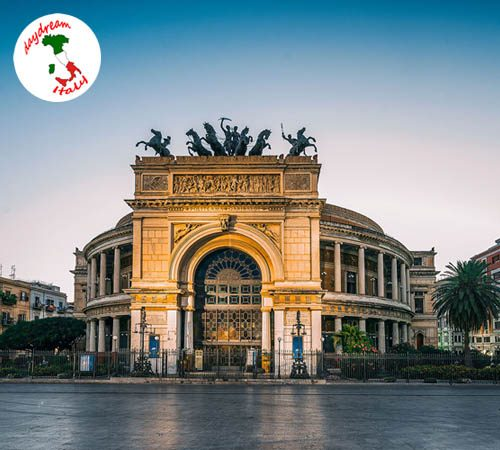 Politeama Theater in Palermo, Italy